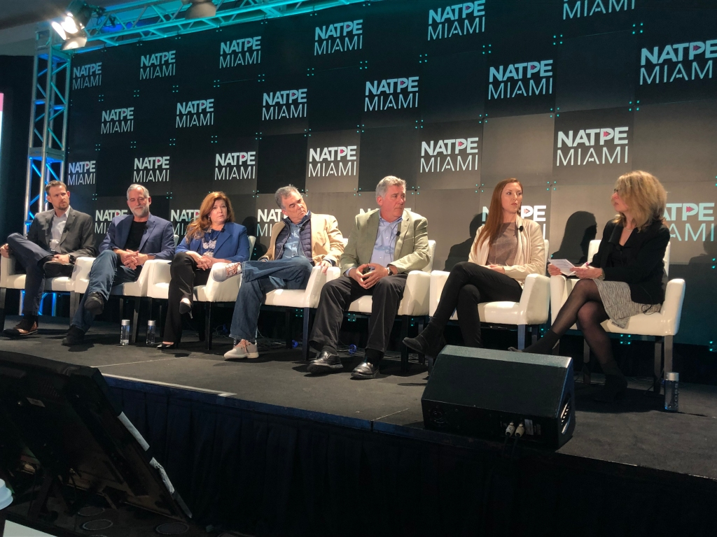 Catherine Herkovic, EVP and Managing Director, Local Television, moderates a panel at NATPE