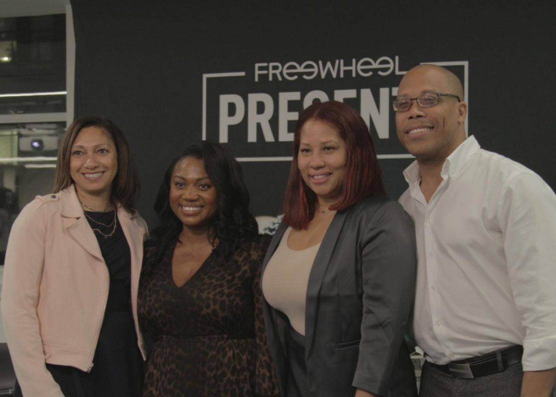 Leslie Pitterson speaks at Freewheel for a Black History Month event